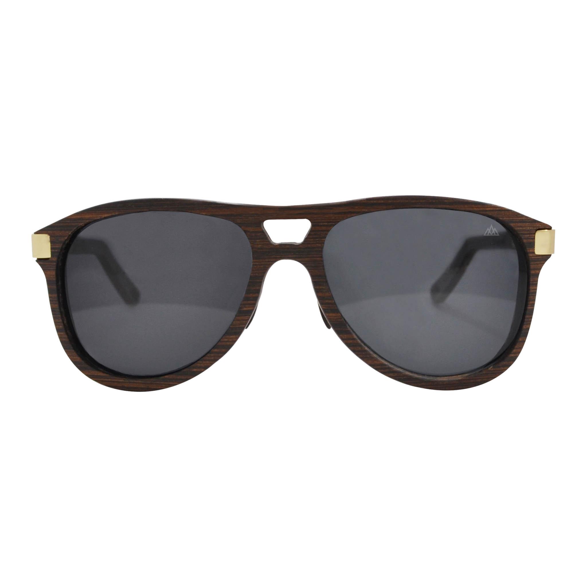 Art und Weisesonnenbrille Arbeiten Sonnenbrille um , Grau / Goldrahmen